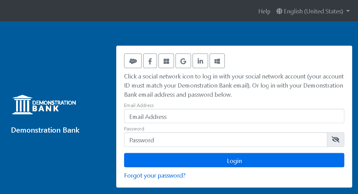The Echoworx Email Encryption Login Page